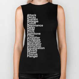 Synthesizer Terms Biker Tank