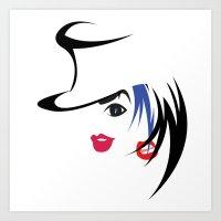 2 face girls look hot Art Print