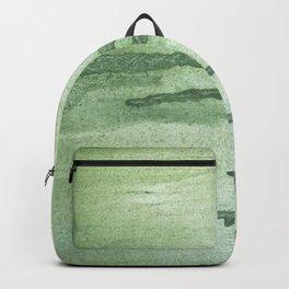 Dark sea green colorful wash drawing texture Backpack