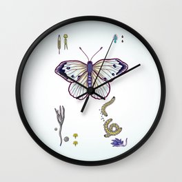 cabbage butterfly Wall Clock