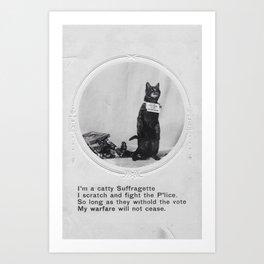 Suffrage Cat Art Print