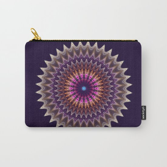 Groovy starry mandala with tribal patterns Carry-All Pouch