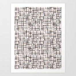 Rustic Texture Grunge Stripes Winter White Art Print