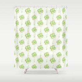 Four Leaf Clover Pattern Shower Curtain