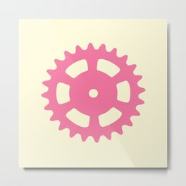 Cog and Roll (pastel) Metal Print