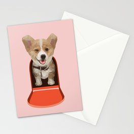 Corgi Delivery Stationery Cards