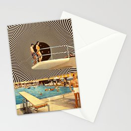 Illusionary Pool Party Stationery Cards
