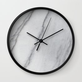 Sophisticated Polished White Marble Wall Clock