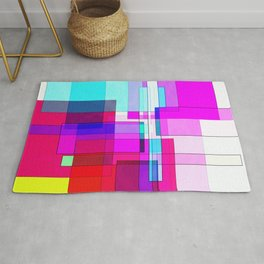 Squares combined no. 5 Rug
