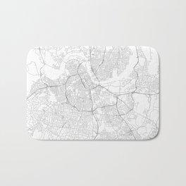 Nashville, United States Minimalist Map Bath Mat