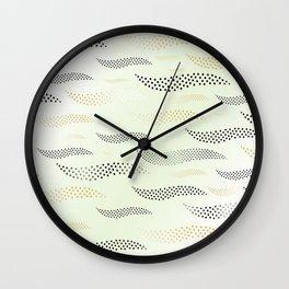 Waves / Tiger (stylized pattern) 30 Wall Clock