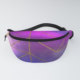 Gold Geometric Triangles Fanny Pack