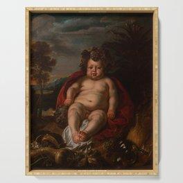 "Jacob Jordaens ""Bacchus as a child"" Serving Tray"