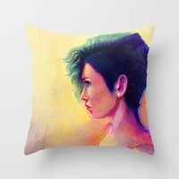 geo Throw Pillows featuring GEO by Smojojo