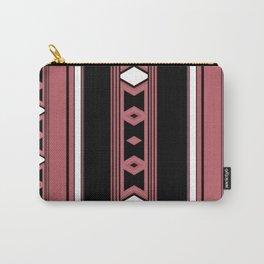 Modern Mauve Pink black Diamond Pattern Design Carry-All Pouch