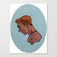 steve rogers Canvas Prints featuring Steve Rogers by Kaley Bales (polarbales)