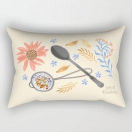 Written in the Tea Leaves Rectangular Pillow