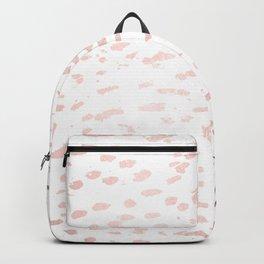 Rose Gold Spots on White Backpack