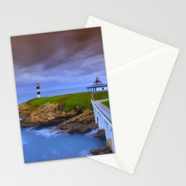 View of Pancha Island in Ribadeo, Lugo before a storm. Stationery Cards
