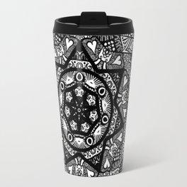 Monochromatic Bloom  Travel Mug