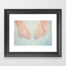 My man's hands Framed Art Print