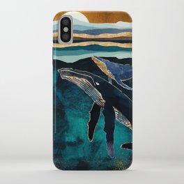 Moonlit Whales iPhone Case