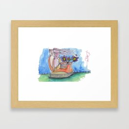 Ballet contemporaneo Framed Art Print