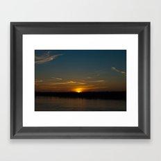 Mississippi River Sunset Framed Art Print
