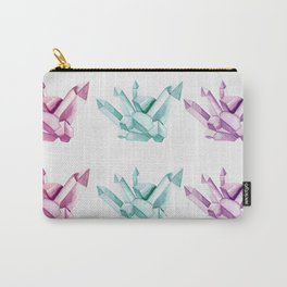 Gemstone Watercolor Pattern Carry-All Pouch