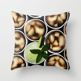 One Fancy Drink - One Mint Julep and Among Cola Throw Pillow