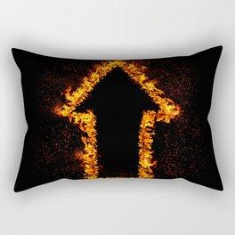 Fire Arrow up Rectangular Pillow