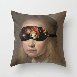 Blindfold Throw Pillow