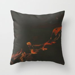 Campfire Flame Throw Pillow
