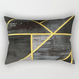 Geometric gold lines Rectangular Pillow