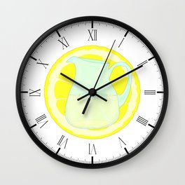 Lemonade With Slice Wall Clock