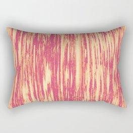 Ikat Streaks in Coral Rectangular Pillow
