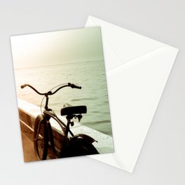 Beach Bicycle at the Marina Stationery Cards