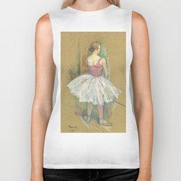 """Henri de Toulouse-Lautrec """"Danseuse en pied. Vue de dos (Standing dancer. Back vue)"""" Biker Tank"""