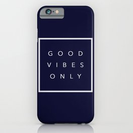 Good vibes only new shirt art vibe love cute hot 2018 style fashion sticker iphone cover case skin m iPhone Case