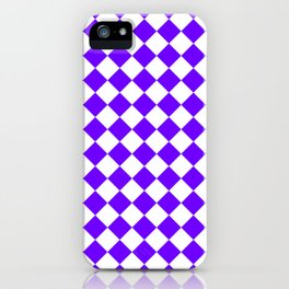 Diamonds - White and Indigo Violet iPhone Case