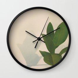 Little Pot Plant Wall Clock