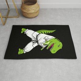 Karate T-Rex Dinosaur Ninja Martial Arts Rug