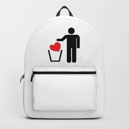 Heart Trash Bin Backpack