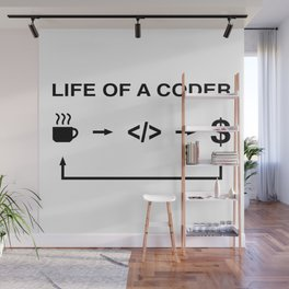 Life of a coder Wall Mural