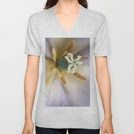Inside a White Tulip Unisex V-Neck