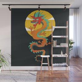 Dragon Sunset  Wall Mural