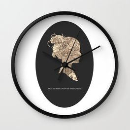 And To The Ends Of The Earth Wall Clock