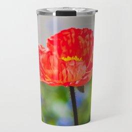 Red Flower Travel Mug