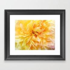 Let Love Shine Framed Art Print