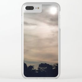 California Moon Clear iPhone Case